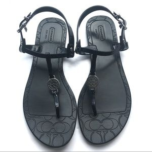Jelly PANSY Thong COACH T-Strap Sandals 8B